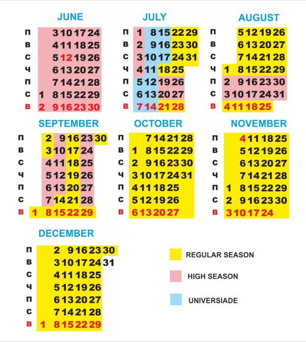 """Riviera"" hotel seasons"